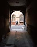 FRANCE, Burgundy, mature man walking on streets of Dijon