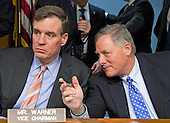United States Senators Mark Warner (Democrat of Virginia), left, and Richard Burr (Republican of North Carolina), right, prior to the US Senate Select Committee on Intelligence confirmation hearing on the nomination of US Representative Mike Pompeo  (Republican of Kansas) to be Director of the Central Intelligence Agency (CIA) on Capitol Hill in Washington, DC on Thursday, January 12, 2017.<br /> Credit: Ron Sachs / CNP