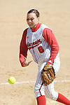 MADISON, WI - APRIL 16: Pitcher Eden Brock #6 of the Wisconsin Badgers softball team pitches against the Indiana Hoosiers at Goodman Diamond on April 16, 2007 in Madison, Wisconsin. (Photo by David Stluka)