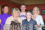 BIRTHDAY: Dinner at the Kirby's Brogue Inn Tralee on Saturday night as Delia Kelly (ardfert) celebrated her 60th Birthday with family. Delia and Shane Kelly. Back l-r: Caroline Moriarty, Jamie and Tracey Kelly..............................   Copyright Kerry's Eye 2008