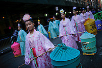 women disguised in traditional chinese costume attend the annual Veterans Day parade in New York. 10.11.2014. Eduardo Munoz Alvarez/VIEWpress