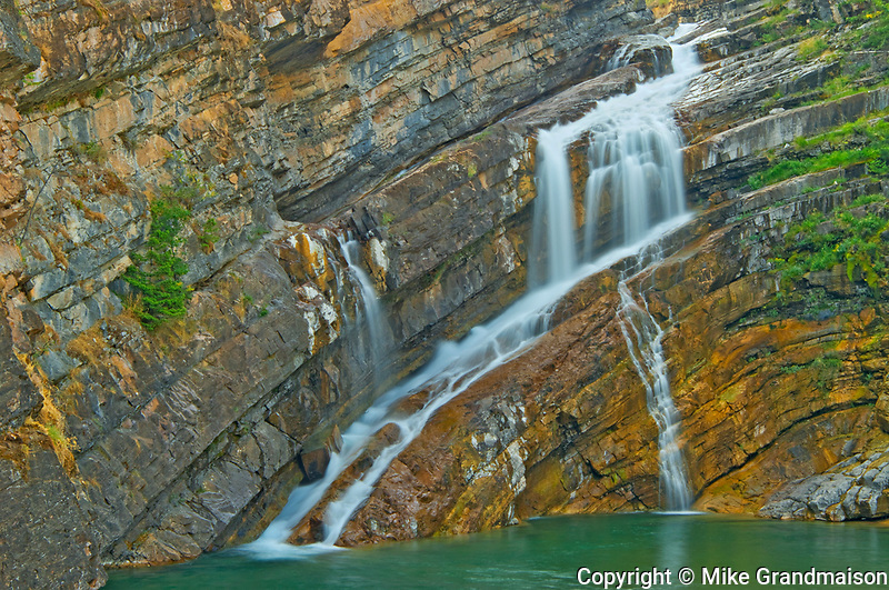 Detail of Cameron Creek at Cameron Falls, Waterton Lakes  National Park, Alberta, Canada