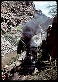 Excursion train on Crystal Creek Bridge<br /> D&amp;RGW  Crystal Creek, CO  Taken by Maxwell, John W.