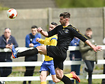 David Rice of Kilkenny in action against Eoin Hayes of Clare during their Oscar Traynor semi-final at Frank Healy Park, Doora. Photograph by John Kelly.