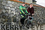 Tommy Sheehy will undertake two mammoth cycling challenges in aid of Enable Ireland Kerry Services Pictured here with Sean Scally of Enable Ireland Kerry Services