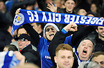 A Leicester City fan celebrates at the end of the game<br /> - Barclays Premier League - Everton vs Leicester City - Goodison Park - Liverpool - England - 19th December 2015 - Pic Robin Parker/Sportimage