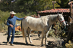 Chuck Edgeman and horse in Lone Pine