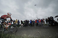 Tony Gallopin (FRA/Lotto-Belisol)<br /> <br /> 2014 Tour de France<br /> stage 5: Ypres/Ieper (BEL) - Arenberg Porte du Hainaut (155km)