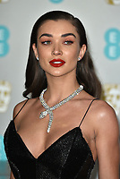 Amy Jackson<br /> The EE British Academy Film Awards 2019 held at The Royal Albert Hall, London, England, UK on February 10, 2019.<br /> CAP/PL<br /> ©Phil Loftus/Capital Pictures