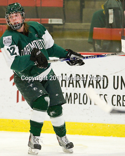 The visiting Dartmouth College Big Green defeated the Harvard University Crimson 4-1 in their ECAC Semi-Final matchup on Thursday, March 3, 2011, at Bright Hockey Center in Cambridge, Massachusetts.