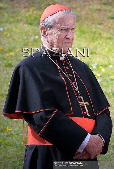 """Cardinal Andrea Cordero Lanza di Montezemolo;Pope Benedict XVI (C) visits the Fosse Ardeatine site on March 27, 2011 in Rome, where 335 Italians including Catholics and Jews were killed by Nazi troop in retaliation against the killing of 33 German officers in Rome on March 24, 1944. The Pontif condemned the massacre calling it a """"grave offence against God."""" Rabbino Capo di Roma Prof. Riccardo Di Segni, Il Card. Andrea Cordero Lanza di Montezemolo."""