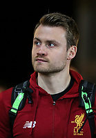 Goalkeeper Simon Mignolet of Liverpool arrives ahead of the Premier League match between Swansea City and Liverpool at the Liberty Stadium, Swansea, Wales on 22 January 2018. Photo by Mark Hawkins / PRiME Media Images.