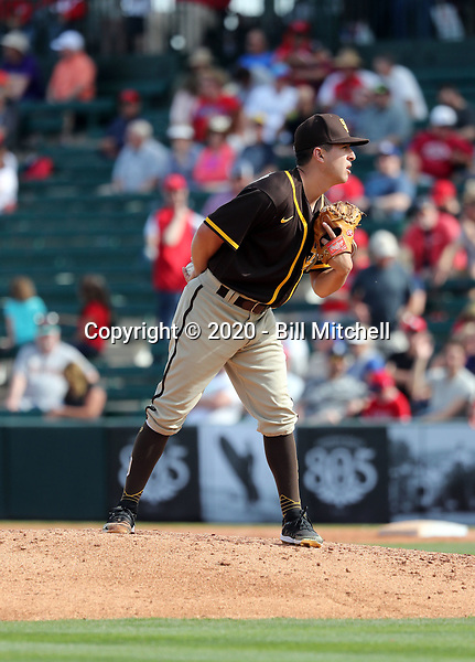 Jose Quezada - San Diego Padres 2020 spring training (Bill Mitchell)
