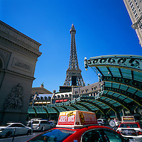 Las Vegas, Nevada, USA - Paris Las Vegas Hotel & Casino along The Strip (Las Vegas Boulevard) - Eiffel Tower Replica