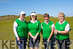 Bunker<br /> ---------<br /> Taking part in the Ladies Challenge cup at Ballybunion golf club last Saturday morning were Tralee team of L-R Laura Raferty,Annett Dineen,Geraldine Reen and Marie McGrath.