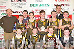 Gaelscoil Aogain team that won the Senior National Schools boys final on Tuesday front row l-r: Donal Mac Ca?rthaigh, Caoimhi?n O'Donnchu?, Cian O?'Conchu?ir, Cathal O?'hAinife?in. Back row: David Costello, Learai? de Prionndaibhe, Tommy Connor coach, Eamonn Breathnach, Sea?n de Bru?n, Alan de Bru?n, Tomas O?'Conchu?ir and Anto?in O?'Miste?il
