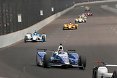 May 28th Indianapolis Speedway, Indiana, USA;  Indycar driver Takuma Sato (26) of Andretti Autosport goes down into turn one during the 101st running of the Indianapolis 500 on May 28, 2017, at the Indianapolis Motor Speedway in Indianapolis, Indiana.