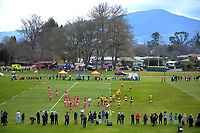 A general view of the 2017 International Women's Rugby Series rugby match between Canada and Australia Wallaroos at Smallbone Park in Rotorua, New Zealand on Saturday, 17 June 2017. Photo: Dave Lintott / lintottphoto.co.nz