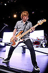 Jeff Pilson of Foreigner performs at Riverbend Music Center in Cincinnati, Ohio on August 3, 2011.