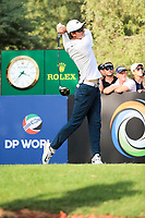 Dylan Frittelli (RSA) on the 16th during the final round of the DP World Tour Championship, Jumeirah Golf Estates, Dubai, United Arab Emirates. 19/11/2017<br /> Picture: Golffile | Fran Caffrey<br /> <br /> <br /> All photo usage must carry mandatory copyright credit (© Golffile | Fran Caffrey)
