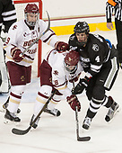 Ryan Fitzgerald (BC - 19), Colin White (BC - 18), Steven Ruggiero (PC - 4) - The Boston College Eagles defeated the visiting Providence College Friars 3-1 on Friday, October 28, 2016, at Kelley Rink in Conte Forum in Chestnut Hill, Massachusetts.The Boston College Eagles defeated the visiting Providence College Friars 3-1 on Friday, October 28, 2016, at Kelley Rink in Conte Forum in Chestnut Hill, Massachusetts.