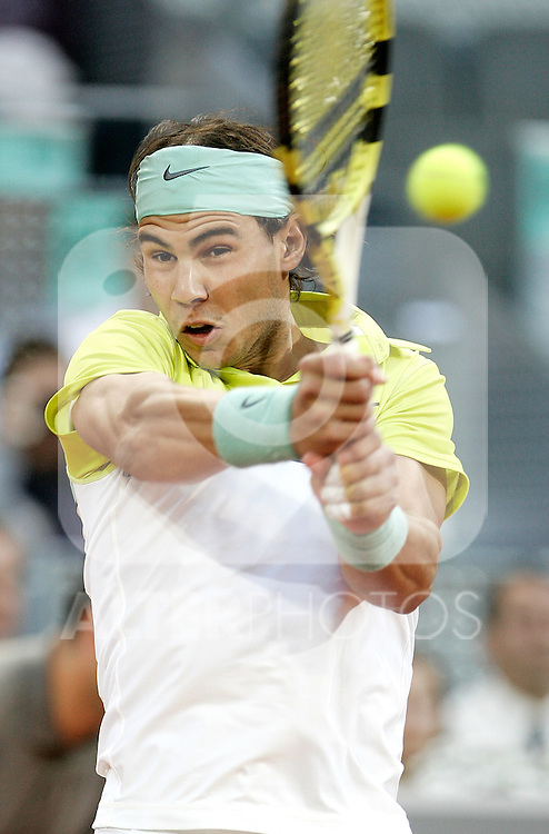 Spain's Rafael Nadal during his Madrid Open quarter final match. May 15, 2009. (ALTERPHOTOS/Alvaro Hernandez)