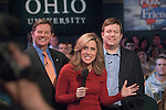 18585FOX News at Ohio University in Baker Center Theater on March 5, 2008..Congressman Thomas D. DeLay, Alisyn Camerota, and national pollster Frank Luntz