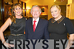 Pictured at the Bons Foundation Dinner on Thursday last in Ballyroe Heights Hotel were l-r:  Yvonne Quill (Tralee) Gerard Mannix (Firies) and Ailish Carmody (Gneeveguilla).