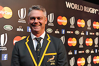 Heineken Meyer, South Africa Head Coach, at the World Rugby Awards 2015  - 01/11/2015 - Battersea Evolution, London<br /> Mandatory Credit: Rob Munro/Stewart Communications