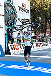 Remco Evenepoel (BEL) wins the Men Junior Road Race of the 2018 UCI Road World Championships running 132.4km from Wattens to Innsbruck, Innsbruck-Tirol, Austria 2018. 27th September 2018.<br /> Picture: Innsbruck-Tirol 2018 | Cyclefile<br /> <br /> All photos usage must carry mandatory copyright credit (© Cyclefile | Innsbruck-Tirol 2018)