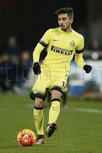 19.01.2016. Naples, Italy. Italian Cup football, Napoli versus Inter Milan.  Alex Telles