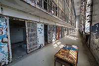 "The Missouri State Penitentiary,  in Jefferson City, Missouri,  operated from 1836-2004.  Part of the Missouri Department of Corrections, it served as the state of Missouri's primary maximum security institution. Before the prison closed in 2004, the Missouri State Penitentiary was the oldest operating penal facility west of the Mississippi—it was already 98 years old when Alcatraz opened in San Francisco. The prison's often-inhumane conditions earned it the title of ""bloodiest 47 acres in America"" in a 1967 TIME Magazine article."