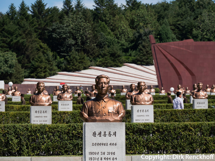 Friedhof der M&auml;rtyrer der Revolution. Pyongyang, Nordkorea, Asien<br /> cemetery of martyrs, Pyongyang, North Korea, Asia