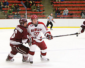 Wade Poplawski (Colgate - 6), Michael Biega (Harvard - 27) - The Harvard University Crimson defeated the visiting Colgate University Raiders 6-2 (2 EN) on Friday, January 28, 2011, at Bright Hockey Center in Cambridge, Massachusetts.