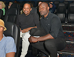 MIAMI, FL - MARCH 04: Actor Jimmy Jean-Louis (R) and Kareem J. Mortimer attend the Miami Film Festival screening for 'Serenade for Haiti' at Regal South Beach on March 4, 2017 in Miami, Florida.  ( Photo by Johnny Louis / jlnphotography.com )
