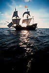 Exploration, Sir Francis Drake's 1580's historic replica sailing ship the Golden Hind