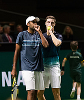 Rotterdam, The Netherlands, 15 Februari 2019, ABNAMRO World Tennis Tournament, Ahoy, quarter finals, doubles, Rajeev Ram (USA) / Joe Salisbury (GBR),   <br />