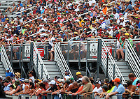 Jun 19, 2015; Bristol, TN, USA; NHRA fans in the grandstands during qualifying for the Thunder Valley Nationals at Bristol Dragway. Mandatory Credit: Mark J. Rebilas-