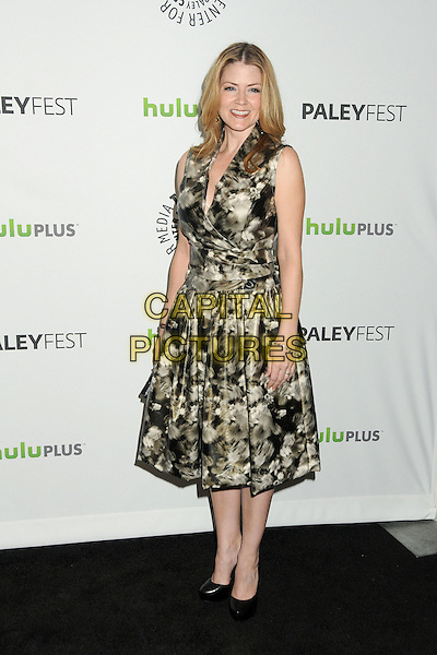 """Juliana Dever.PaleyFest 2012 Presents """"Castle"""" held at The Saban Theatre, Beverly Hills, California, USA, 9th March 2012..full length grey gray print sleeveless shoes black .CAP/ADM/BP.©Byron Purvis/AdMedia/Capital Pictures."""
