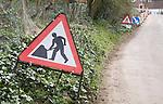 Men at work road signs, UK