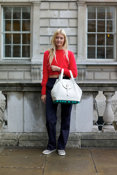 Charlotte Harding carries a Meli Melo hand bag