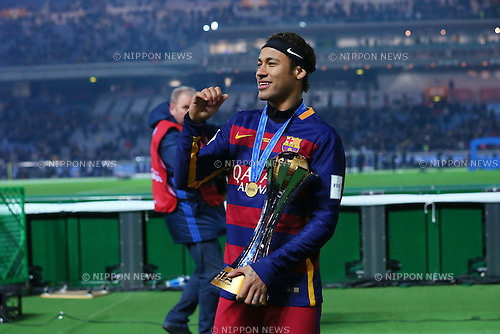 Neymar (Barcelona), <br /> DECEMBER 20, 2015 - Football / Soccer : <br /> FIFA Club World Cup Japan 2015 <br /> award ceremony  <br /> at Yokohama International Stadium in Kanagawa, Japan.<br /> (Photo by Yohei Osada/AFLO SPORT)