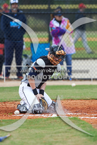Easton Dowell (1) of Aransas Pass, Texas during the Baseball Factory All-America Pre-Season Rookie Tournament, powered by Under Armour, on January 13, 2018 at Lake Myrtle Sports Complex in Auburndale, Florida.  (Michael Johnson/Four Seam Images)