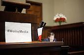 *WARSAW, POLAND, December, 2016: Free press hashtag sign in plenary hall.<br /> Polish opposition MP's from Civic Platform and Modern parties are occupying the Sejm, Polish parliament in protest to the curbing of free press access to the parliament.<br /> (Photo by Polish opposition MP for Piotr Malecki / Napo Images)***WARSZAWA, 24/12/2016:<br /> Napis #WolneMedia na mownicy sejmowej podczas okupacji Sejmu przez opozycje z PO i Nowoczesnej.<br /> Fot: Posel opozycji dla Piotra Maleckiego / Napo Images<br /> ****WARSAW, POLAND, December, 2016: Free press hashtag sign in plenary hall.<br /> Polish opposition MP's from Civic Platform and Modern parties are occupying the Sejm, Polish parliament in protest to the curbing of free press access to the parliament.<br /> (Photo by Polish opposition MP for Piotr Malecki / Napo Images)###ZDJECIE MOZE BYC UZYTE W KONTEKSCIE NIEOBRAZAJACYM OSOB PRZEDSTAWIONYCH NA FOTOGRAFII###