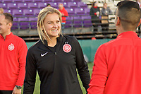 Portland, OR - Sunday March 11, 2018: Lindsey Horan during a National Women's Soccer League (NWSL) pre season match between the Portland Thorns FC and the Chicago Red Stars at Merlo Field.