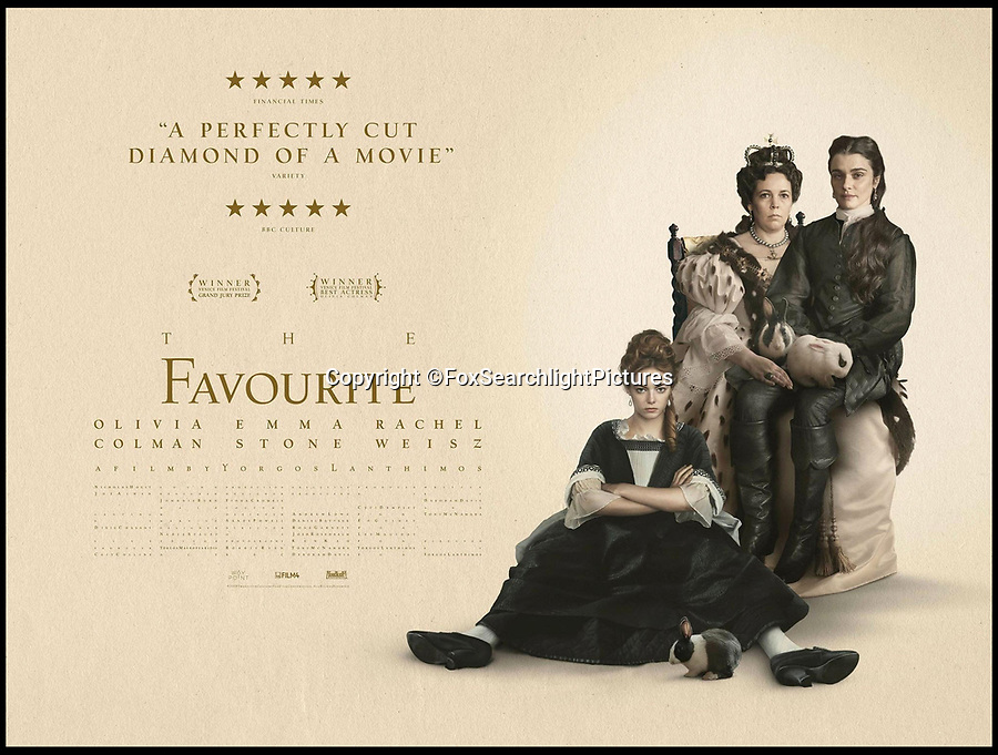 BNPS.co.uk (01202 558833)<br /> Pic:<br /> <br /> Film poster.<br /> <br /> Paper trail - As Olivia Coleman wins the best actress Oscar for her acclaimed portrayal of Queen Anne, a fascinating newly discovered document at Blenheim Palace reveals her very private account's, meticulously kept by Sarah Churchill, Duchess of Marlborough.<br /> <br /> The hand written ledger gives an astonishing insight into the Royal court depicted in 'The Favourite' movie.<br /> <br /> Mysterious payments of several thousand pounds in modern money are listed, including 'to the mad spaniard', 'to Mr M, by order of the Queen, for Secret Service' and even 'to release a prisoner'.<br /> <br /> Also revealed is an astonishing £11,000 bill for chocolate, and a similar one for tea, both were extremely fashionable and expensive new drinks at the time.<br /> <br /> The newly discovered accounts offer an intimate glimpse inside the court of Queen Anne.