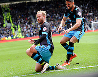 Derby v Sheffield Wednesday ... Sheffield Wednesdays Barry Bannan scores and celebrates his sided goal