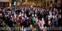 London, 05/11/2014. Thousands of protesters gathered this evening in central London to take part in a demonstration called the &quot;Million Mask March&quot;, which is organised annually by Anonymous, and held globally in more than 400 cities planned to coincide with Guy Fawkes Night. The aim of the demo was to highlight social injustice ...<br />