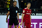 10.11.2018, Signal Iduna Park, Dortmund, GER, 1.FBL, Borussia Dortmund vs FC Bayern M&uuml;nchen, DFL REGULATIONS PROHIBIT ANY USE OF PHOTOGRAPHS AS IMAGE SEQUENCES AND/OR QUASI-VIDEO<br /> <br /> im Bild | picture shows:<br /> Robert Lewandowski (Bayern #9) ist entt&auml;uscht, frustiert dar&uuml;ber, dass sein Tor auf Grund einer Abseitsposition nicht z&auml;hlt, <br /> <br /> Foto &copy; nordphoto / Rauch