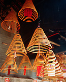 CHINA, Macau, Taipa, Asia, incense hangs from the ceiling at the temple
